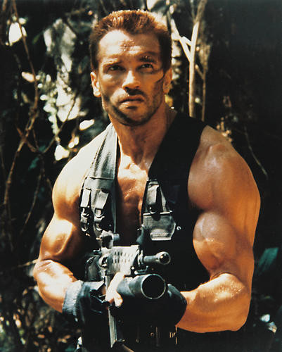 This is an image of 21071 Arnold Schwarzenegger Photograph & Poster