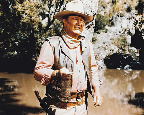 This is an image of 22639 John Wayne Photograph & Poster
