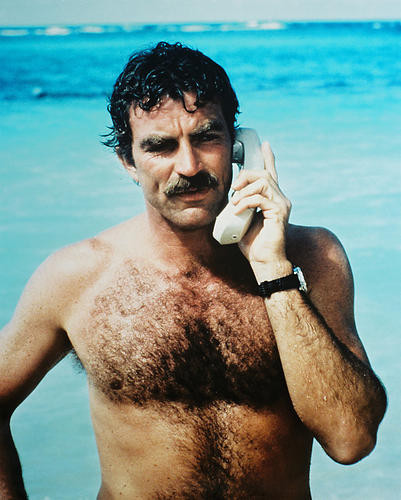 This is an image of 24376 Tom Selleck Photograph & Poster