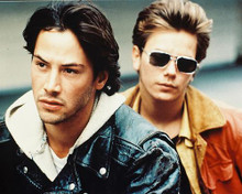 This is an image of 27760 River Phoenix & Keanu Reeves Photograph & Poster