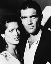 This is an image of 162006 Antonio Banderas & Salma Hayek Photograph & Poster