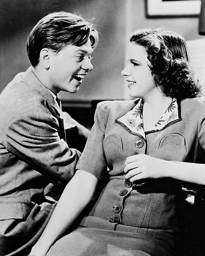 This is an image of 165916 Judy Garland & Mickey Rooney Photograph & Poster