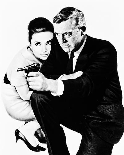 This is an image of 167206 Cary Grant & Audrey Hepburn Photograph & Poster