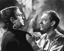 This is an image of 179572 Frankenstein Meets the Wolfman Photograph & Poster