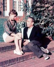 This is an image of 225781 Audrey Hepburn & Humphrey Bogart Photograph & Poster