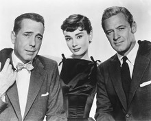 This is an image of 172461 Humphrey Bogart Audrey Hepburn and William Holden Photograph & Poster