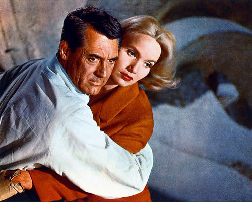 This is an image of 226962 Cary Grant & Eva Marie Saint Photograph & Poster