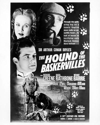 Sherlock Holmes Hound of the Baskervilles Retro Movie Poster Print New