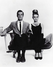 This is an image of 190689 Audrey Hepburn and George Peppard Photograph & Poster