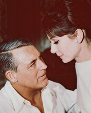 This is an image of 245561 Audrey Hepburn & Cary Grant Photograph & Poster
