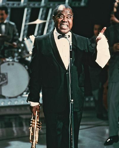 This is an image of 246350 Louis Armstrong Photograph & Poster