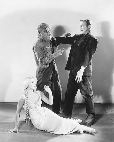This is an image of 174238 Frankenstein Meets the Wolfman Photograph & Poster