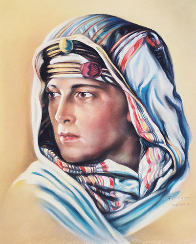 This is an image of 247593 Rudolph Valentino Photograph & Poster