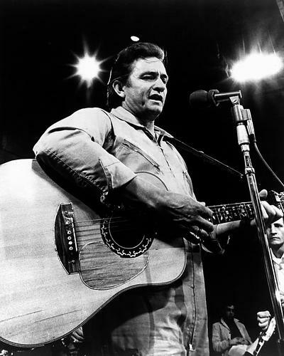 This is an image of 186500 Johnny Cash Photograph & Poster