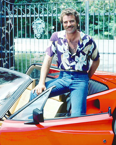 This is an image of 277104 Tom Selleck Photograph & Poster