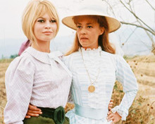 This is an image of 240761 Bridgitte Bardot & Jeanne Moreau Photograph & Poster