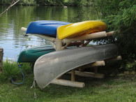 4 Place Kayak / Canoe Rack – Double Sided- Shipping Included