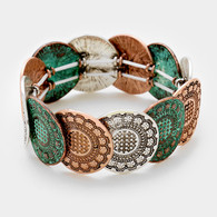 Tribal Metal Stretch Bracelet
