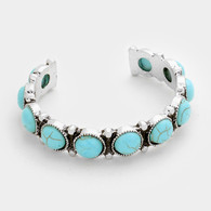 Turquoise Thin Cuff Bracelets