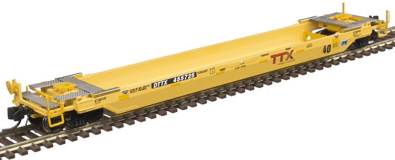 """Atlas 50 003 736 40 Foot Rebuilt Well Car TTX """"Forward Thinking"""" 1B DTTX 455725 (First Run)"""