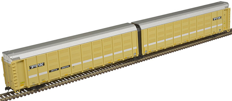 Atlas 50 005 179 Thrall Articulated Auto Carrier TTX (with speed-line lettering logos) BTTX 880176