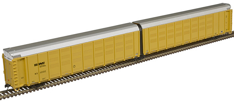 Atlas 50 005 183 Thrall Articulated Auto Carrier Norfolk Southern (new road number) NS 110102