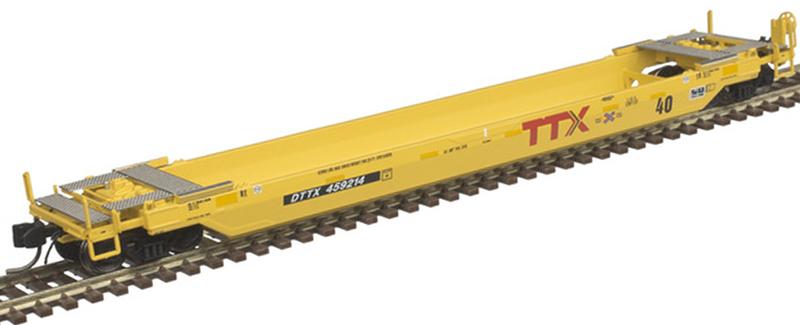 "Atlas 50 005 301 40 Foot Rebuilt Well Car TTX ""Next Load Any Road"" DTTX 459214 (New Paint Scheme)"