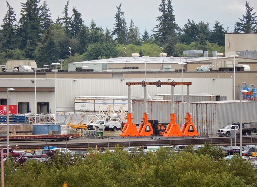 Signal Light Productions Boeing Blog Photo of Boeing Facility Gantry Crane