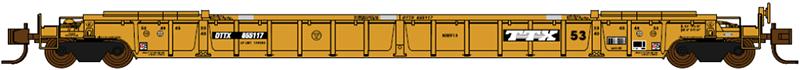JTC 772013 NSC Class NWF13 17-Post Double Stack Well Car TTX DTTX 655117 Artwork