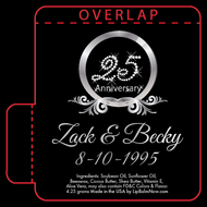 Black and 25 in Diamonds Anniversary Lip Balm Tube