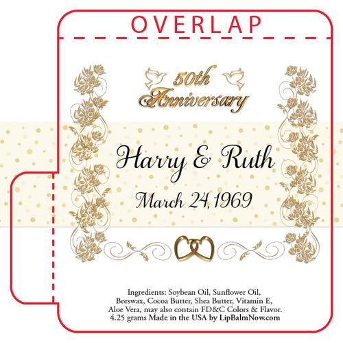 Gold on White 50th Anniversary Lip Balm Tube
