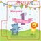 Lion and Elephant Dancing 1st Birthday Lip Balm Tube