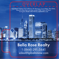 Chicago Skyline Real Estate Lip Balm Tube