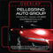 Red Sports Car on Black Background Automotive Lip Balm Tube