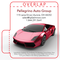 Red Sports Car on White Background Automotive Lip Balm Tube