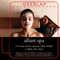 Women Laying in Facial Mask on Black Background Lip Balm Tube