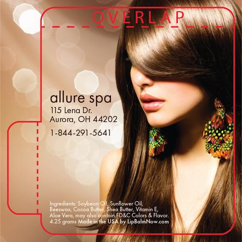 Beautiful Brunette With Perfect Hair Salon Lip Balm Tube