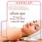 Woman Laying on White Backdrop Spa Lip Balm Tube