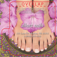 Pedicure on Fancy Plate Lip Balm Tube