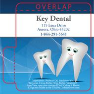 Blue Dental with Dancing Teeth Lip Balm Tube