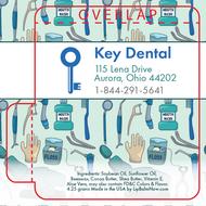 Quirky Dental Cartoon Collage Lip Balm Tube