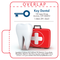 Clean White Tooth and Medical Kit Dental Lip Balm Tube