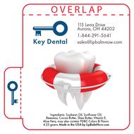 Tooth in Life Vest Dental Lip Balm Tube