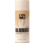Blondie Touch-Up is the final touch-up for covering adhesives and leg builders on light yellow, cream and butterscotch colored hair, especially on Composite Charolais cattle. Blondie Touch-Up provides excellent coverage, texture and color dimension to enhance your animal's natural hair color. Select single or case and specify quantity below. ALL AEROSOLS MUST BE SHIPPED GROUND.THEY CANNOT GO NEXT DAY, SECOND DAY, OR THIRD DAY AIR.  THEY CANNOT BE SHIPPED INTERNATIONALLY WITH THE U.S. POSTAL SERVICE.