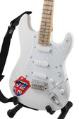 Miniature Guitar ROLLING STONES White