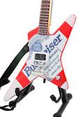 Miniature Guitar BUDWEISER White