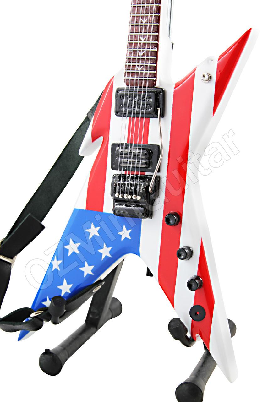 Miniature Guitar Dimebag Stealth Razorback USA /& Strap