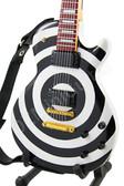 Miniature Guitar Zakk Wylde Black White BULLSEYE