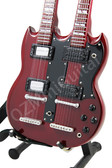 Miniature Guitar Jimmy Page DoubleNeck Signature