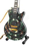 Miniature Guitar Zakk Wylde Camo BULLSEYE SG